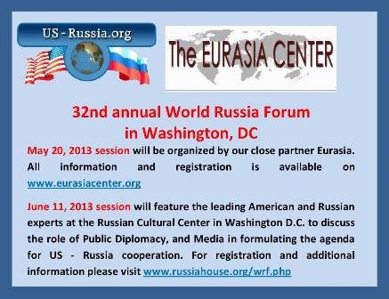 WORLD RUSSIA FORUM 2013