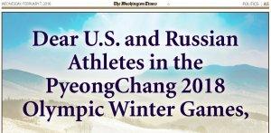 Washington Times Greets Russian Olympians